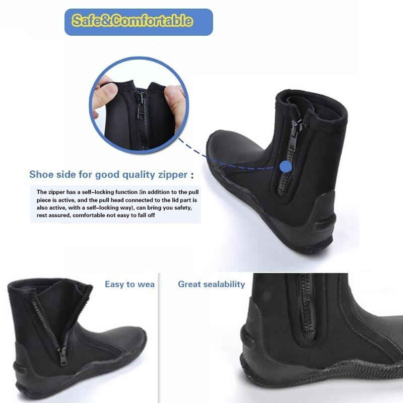 Details about  /5mm Unisex Neoprene Diving Shoe Keep Warm Anti‑Slip Swimming Snorkeling Boot
