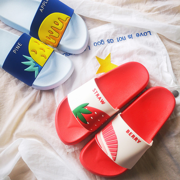 Women Summer Slippers Cute Fruits Watermelon Strawberry Soft Sole Beach Slides Indoor & Outdoor Slippers Sandals Women Shoes 1