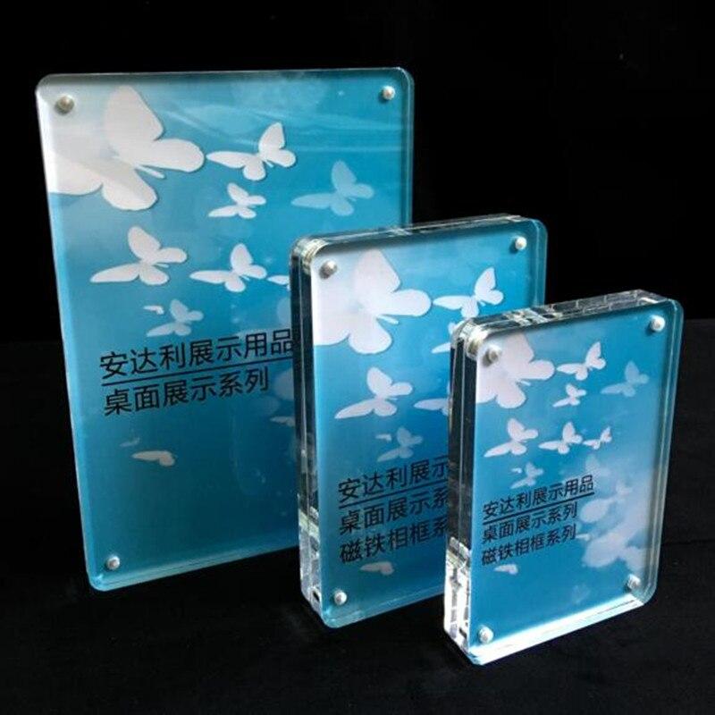 ᗜ LjഃAcrílico transparente de alta decoración del hogar marco de ...