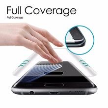 Screen Protector Full Cover 3D Curved Round Edge For Samsung Galaxy and Note