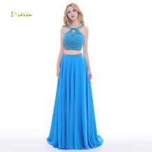 Loverxu Luxury A-Line 2 Piece Evening Dress 2019 Prom Dress