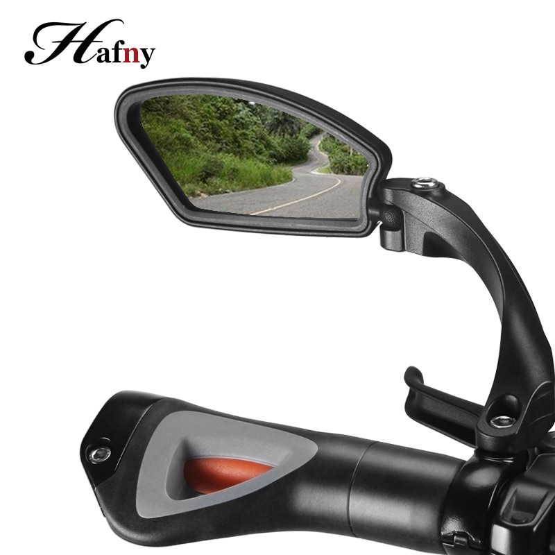 Hafny Unbreakable Rotatable Bike Rearview Mirror Safety Flexible Side Mirror