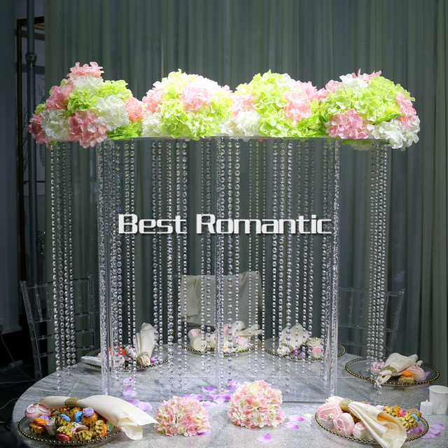 K9 Crystal Large Table Top Chandelier Flower Stands Centerpieces For Weddings Free Wedding