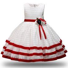 a42ea8cc7 Los niños princesa fiesta niños vestidos para niñas pastel de encaje tutú  flor 1-8 años niñas ropa de bebé niños vestido de fies.