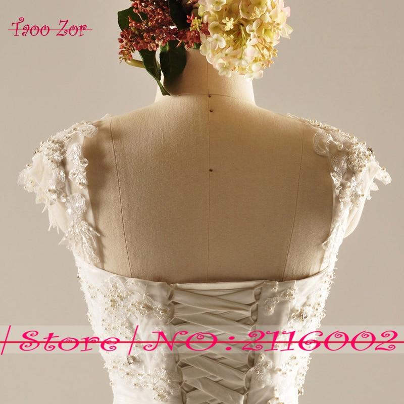 Amdml Much Mărguri Crystal Perle Princess A-Line Lace rochii de - Rochii de mireasa - Fotografie 5