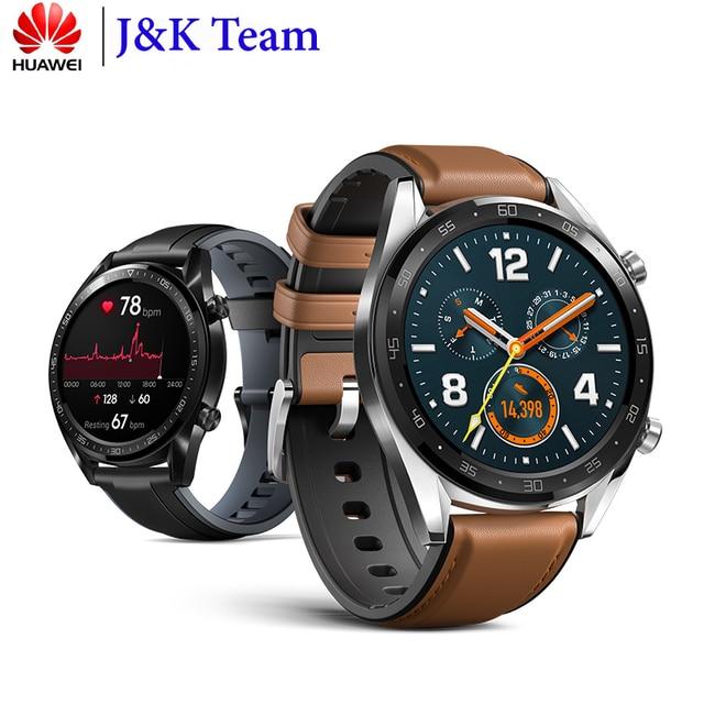 Huawei 社腕時計 Gt スマート腕時計サポート GPS NFC 14 日バッテリ寿命 5 気圧防水電話心拍数トラッカーアンドロイド Ios 用