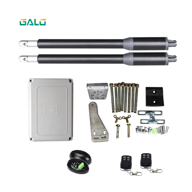 Easy opener electric automatic dual arms swing gate opener 200KG weight with transmitters and photocell galo electronic automatic swing gate opener motor max single leaf weight 200kg dual arm 2 5m dc 24v motor