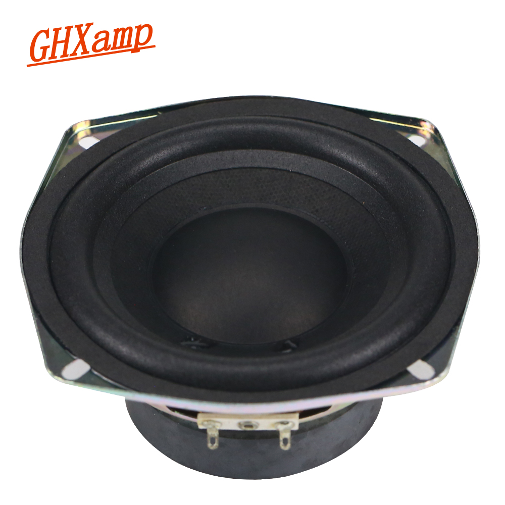 GHXAMP 120mm 5 Inch Bass Speaker Unit 4ohm 30W 2 Way DIY Woofer Speaker Subwoofer Car Home-made LoudSpeaker 1PC ghxamp 3 inch 4ohm 30w midrange speaker car speaker mid human voice sound good loudspeaker for lg diy 2pcs