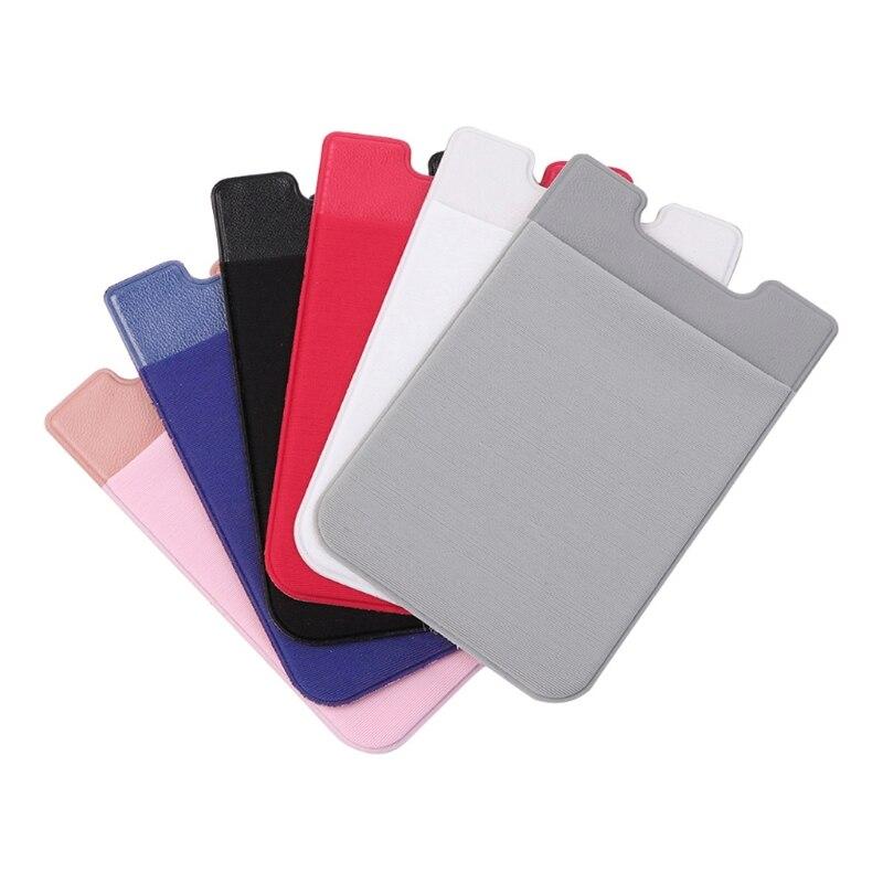 1 шт. клей Стикеры мобильный телефон обратно карты Бумажник кредитных ID держатель для карт карман