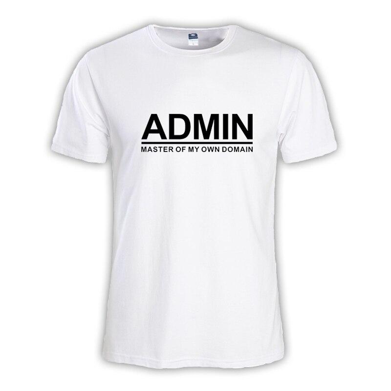 2018 Летняя мода Мужская футболка мастер NERD freak хакер pc gamer программиста систем топы для мальчиков футболки Мужчины ADMIN по размер одежды