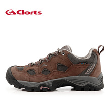 Clorts Sport Hiking Mountain Shoes for Women Waterproof Outdoor Shoes Real Leather Shoes Trekking HKL-810C
