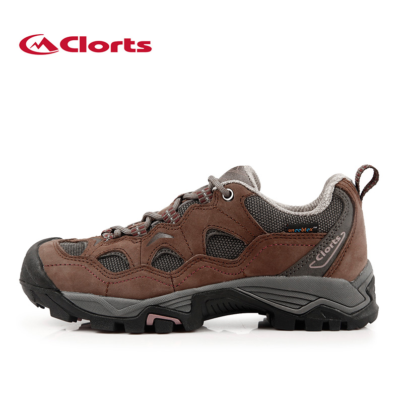 Clorts Sport Hiking Shoes For Women Waterproof Outdoor Female Shoes Genuine Leather Trekking Shoes Women Sneakers