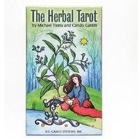 78pcs English version 100% original Herbal Tarot cards board gaming tarot deck Divination with book