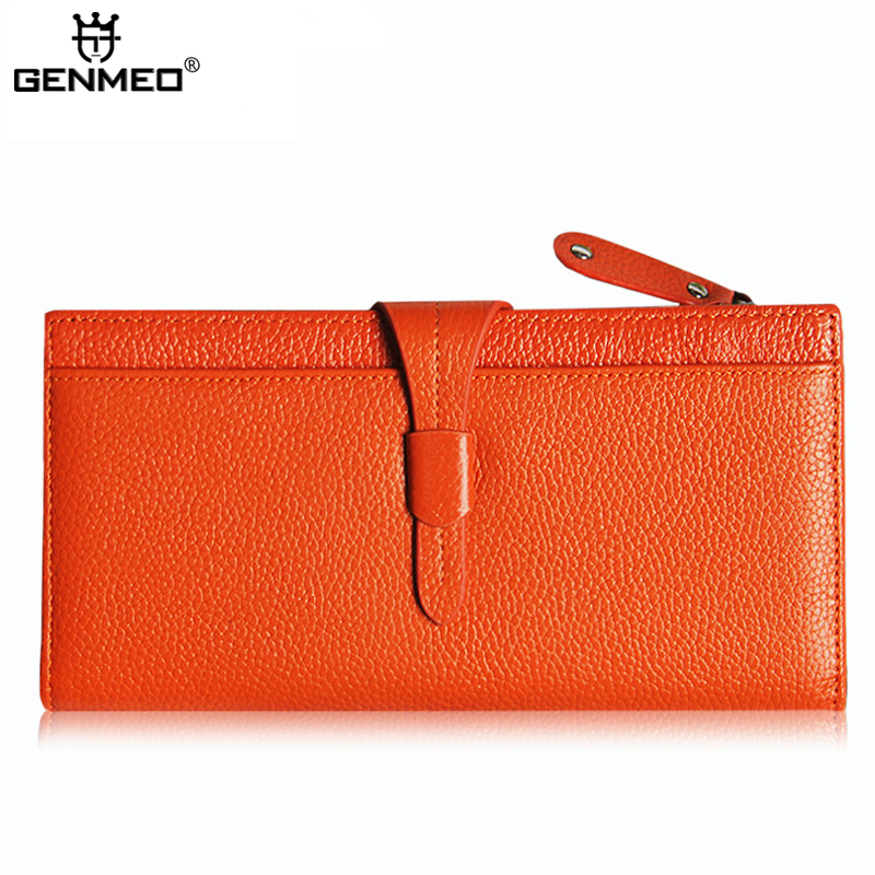 MAIFEINI New Arrival Genuine Leather Wallets Women Long Fashion Handbags 2017 Sexy Ladies Leather Bags with Phone Pocket Bolsa new arrival leather handbags women fashion phone bag female storage wallets