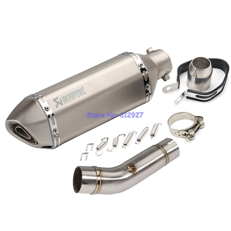 Motorcycle for Honda CB400 Exhaust System Connect Middle Link Pipe with Akrapovic Muffler Escape Leak