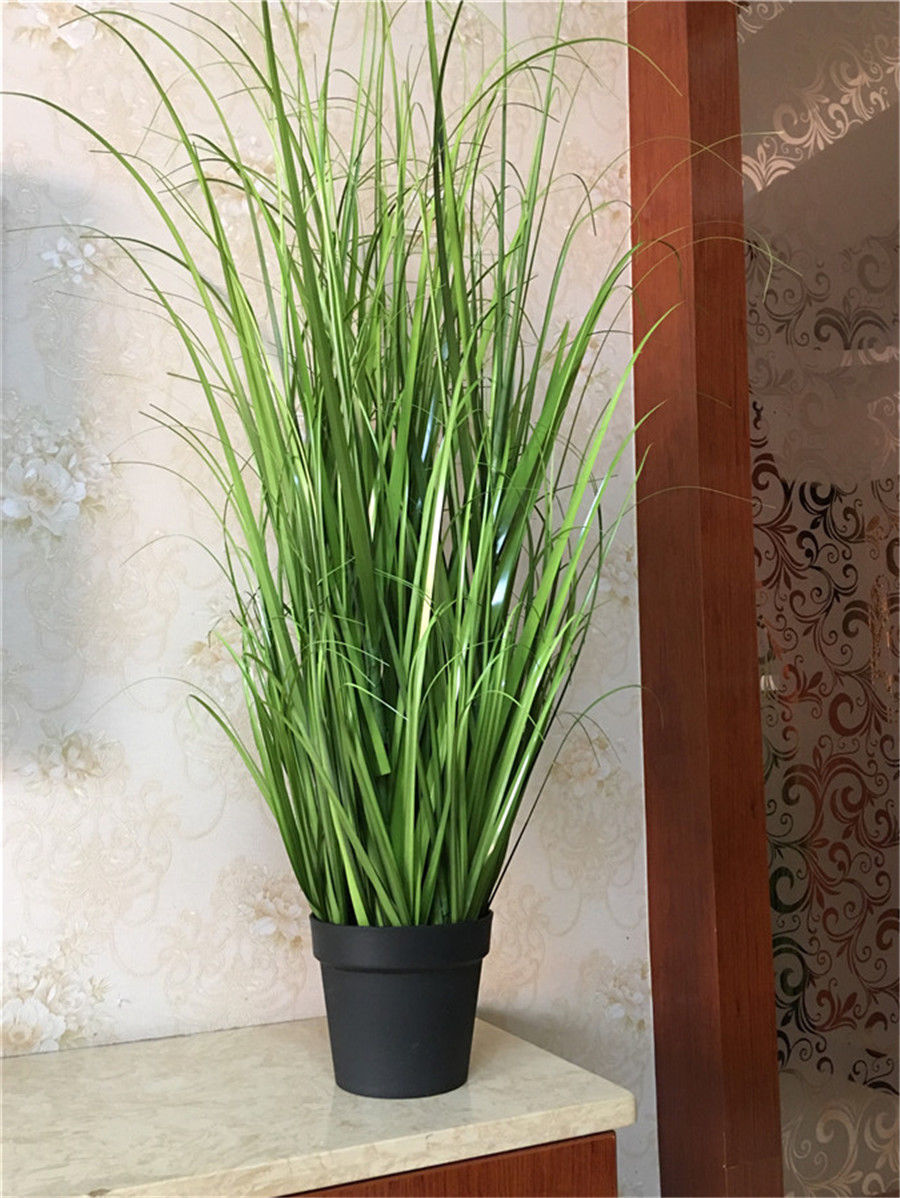 Wholesale and retail 4pc PVC Artificial Plastic Green Grass Decor Plant For Room Garden Patio 120cm