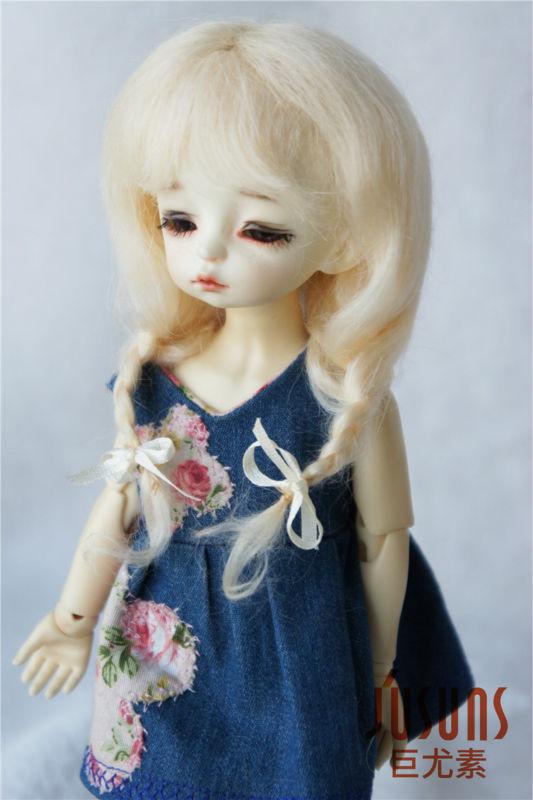 JD2031 1/6 mohair BJD pelucas de muñeca 6-7 pulgadas YOSD Long Lovly - Muñecas y peluches - foto 4