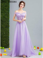 Robe Sirene Longue Lilac Purple Evening Dresses A Line Floor Length Robe De Soiree 2018 Special Occasion Dresses Long Party Gown
