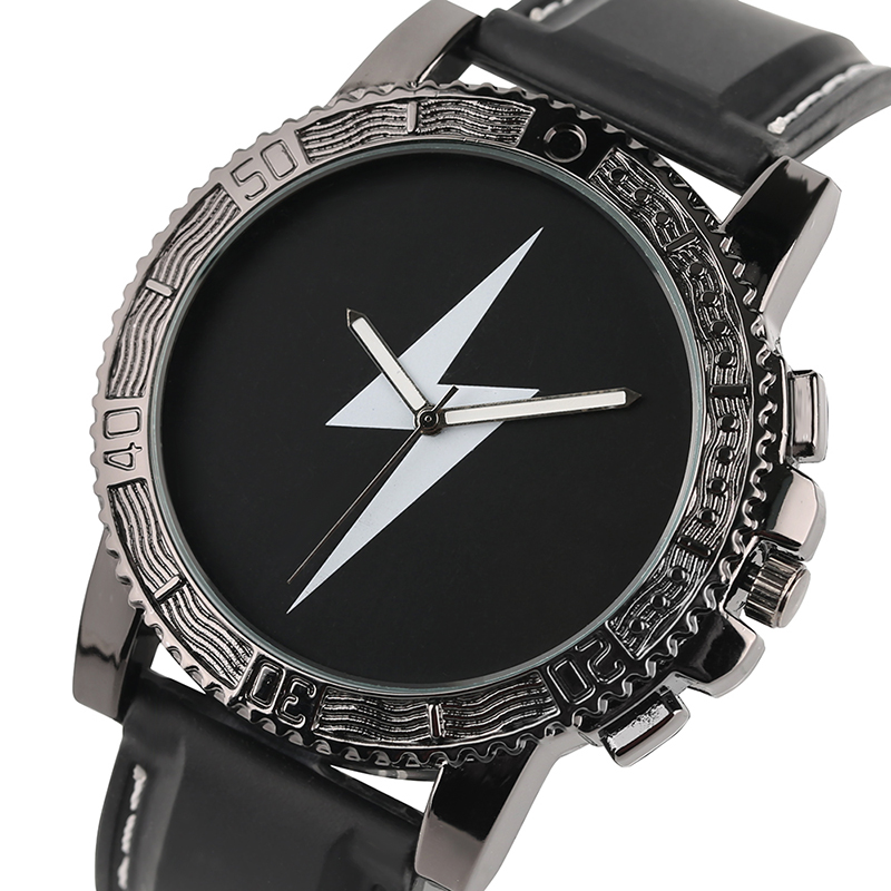 Cool Men Watch Flash Lighting Reloj de pulsera con forma de esfera - Relojes para hombres