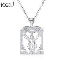 Iogou Мода стерлингового серебра 925 Иисус Для мужчин Для женщин Подвески Юбилей Христос Шарм Подвески хип хоп красивые украшения подарок