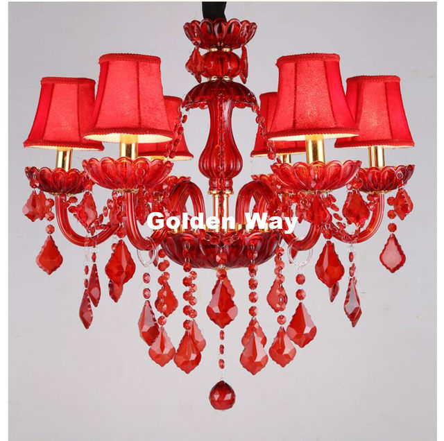 online shop red crystal chandelier lighting luxury crystal light