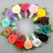 new arrival 16colors  felt facric rose lower with clips hair flowers for headwear garments 100pc/lot