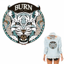10pcs Patches For Clothing 20*20cm Tiger A-level Washable Heat Transfer DIY Accessory Decoration Press Appliqued