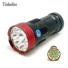 Tinhofire 15000 lumens King 9T6 LED flashlamp 9 x CREE XM-L T6 LED Flashlight Torch For Camping Hiking Hunting Work Lamp