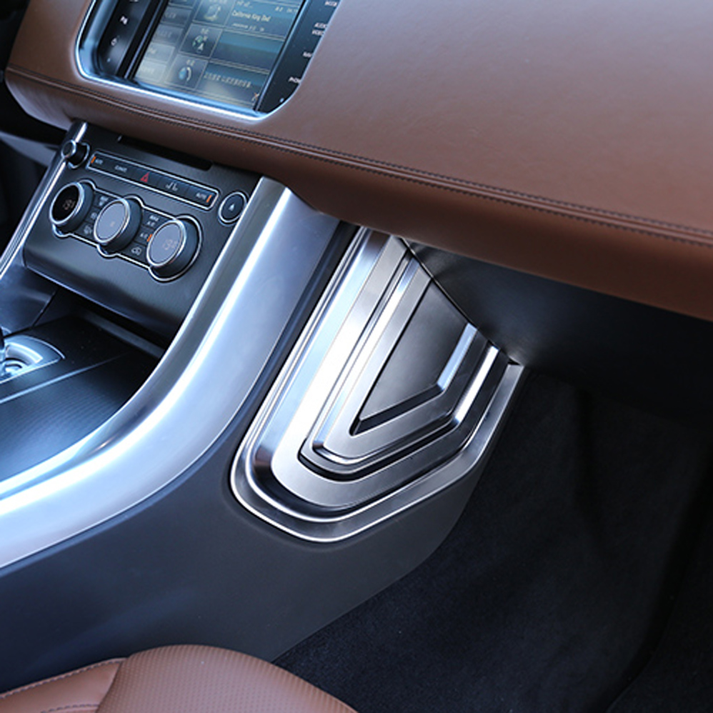 Consel side penal sticker cover trim for land range rover sport Interior Mouldings Accessories 2pcs abs car interior accessories center control side strip cover trim for land rover lr4 discovery 4 2013 2016 car styling