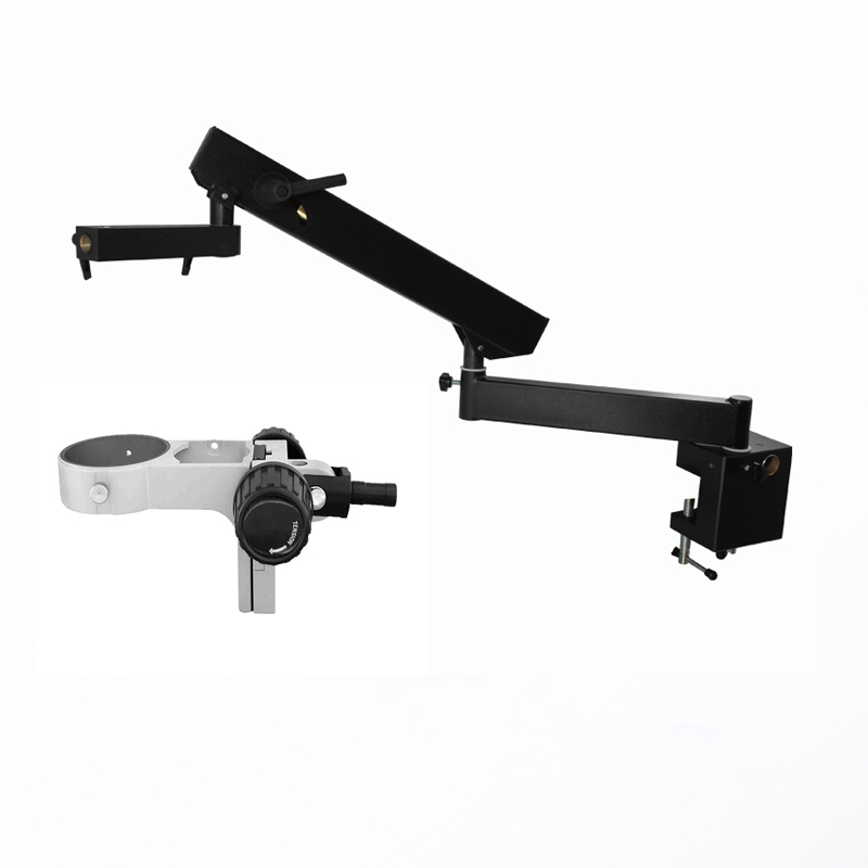 Microscope flex arm clamping stand/stereo microscope articulating flex table clamping arm with table clamp