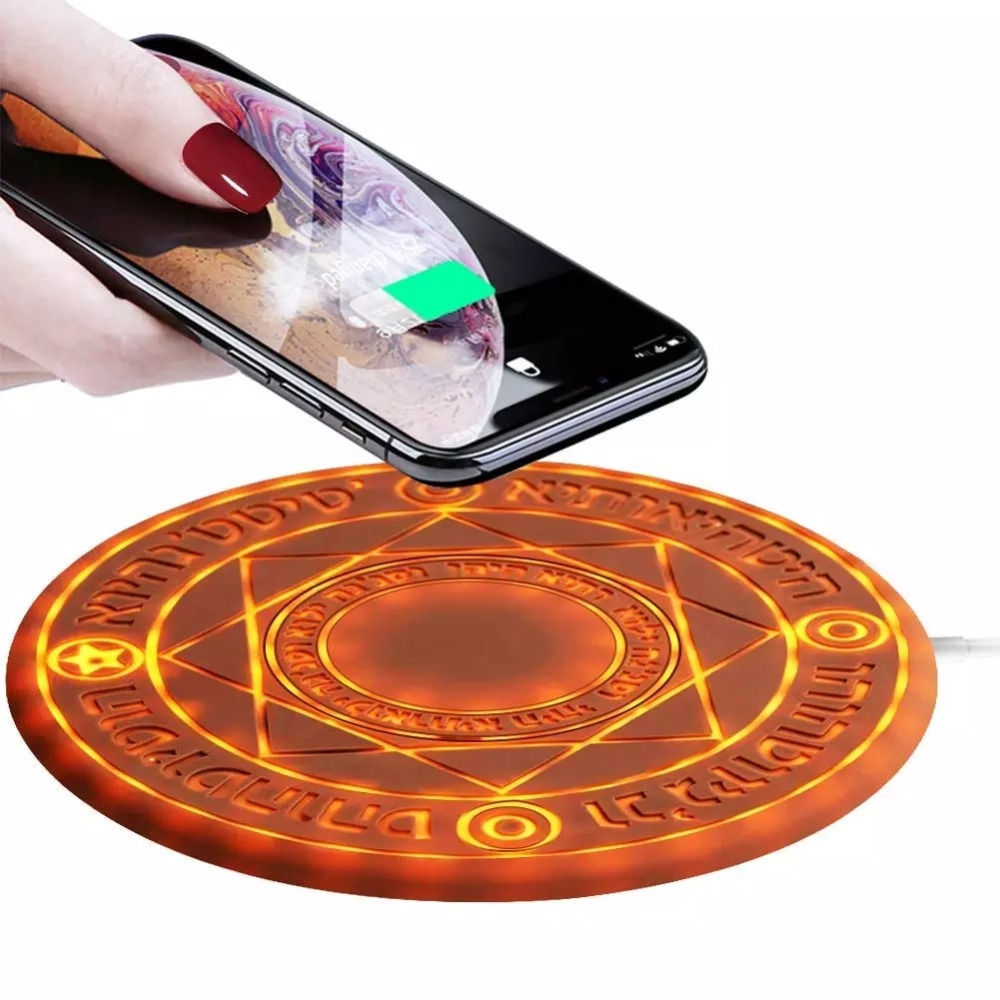 Magic Array Wireless Charger 10 W Qi Fast Wireless Charging Pad for iPhone 8 Plus X Samsung S9 S8 in Mobile Phone Chargers from Cellphones Telecommunications
