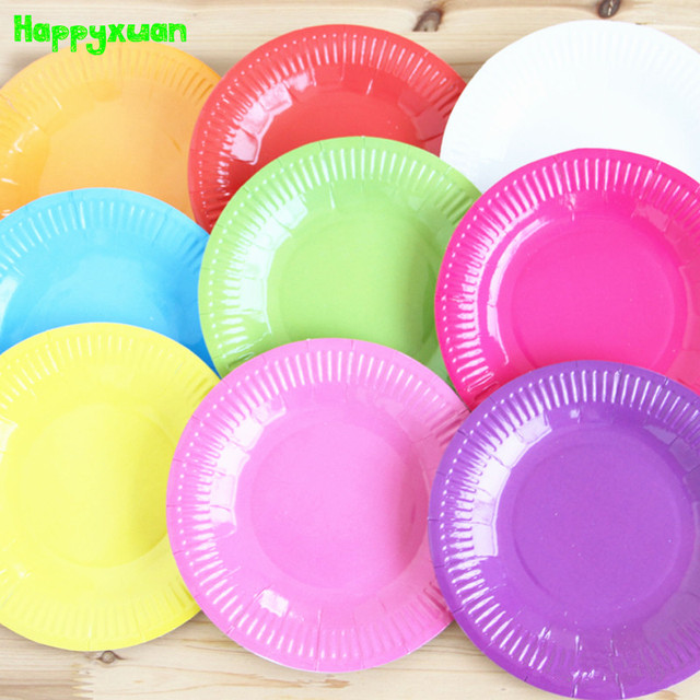 Happyxuan 10pcs/pack Round Color Paper Plate DIY Handmade Craft Art Materials Creative Kids Kindergarten : cheap colored paper plates - pezcame.com