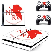 EVA NEON GENESIS EVANGELION PS4 Skin Sticker Decal Vinyl for Sony Playstation 4 Console and 2 Controllers PS4 Skin Sticker