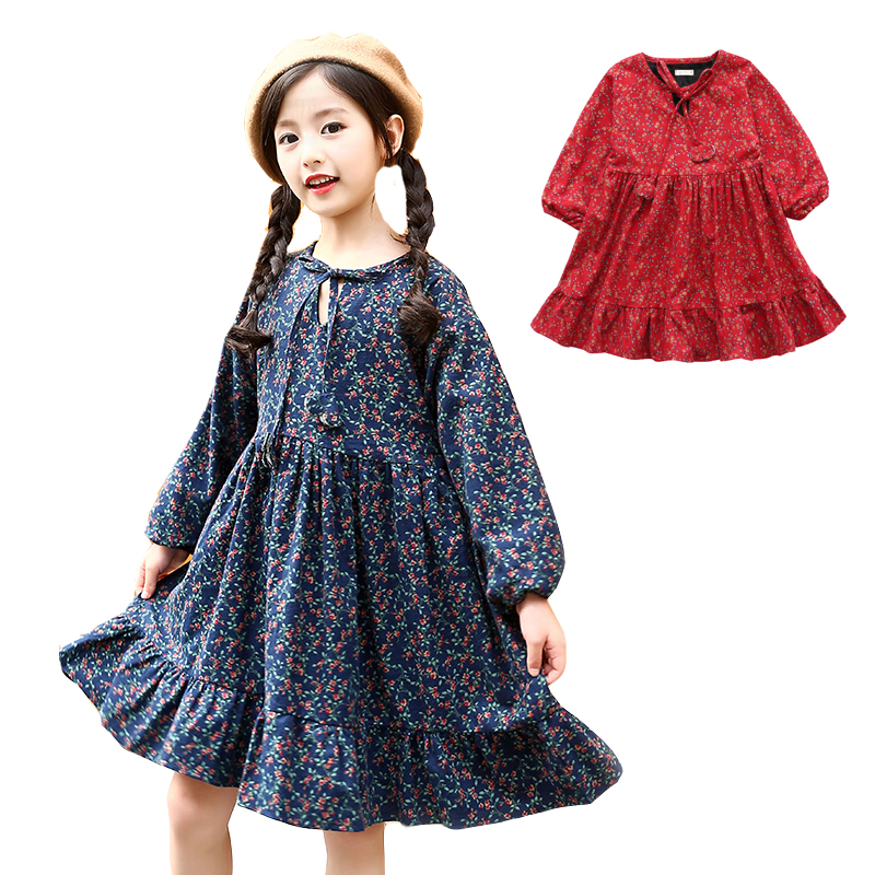 Girls Dresses Thick Plus Velvet Winter Dresses For Girls Warm Floral Dress For Party And Wedding Kids Clothes 2 4 6 8 10 12Years hip hop beanie hat baggy unisex cap thick warm knitted hats for women men bonnet homme femme winter cap plus velvet beanies