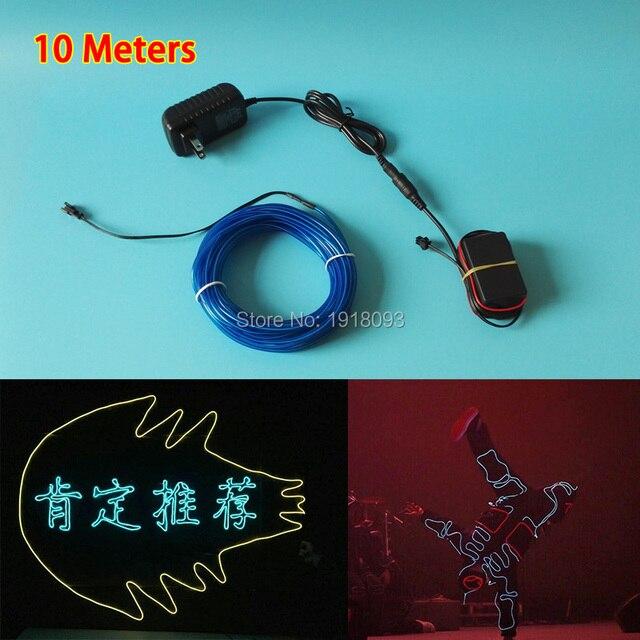 Neue 10 farbe wahl 10 mt länge 3,2mm durchmesser led streifen neon ...