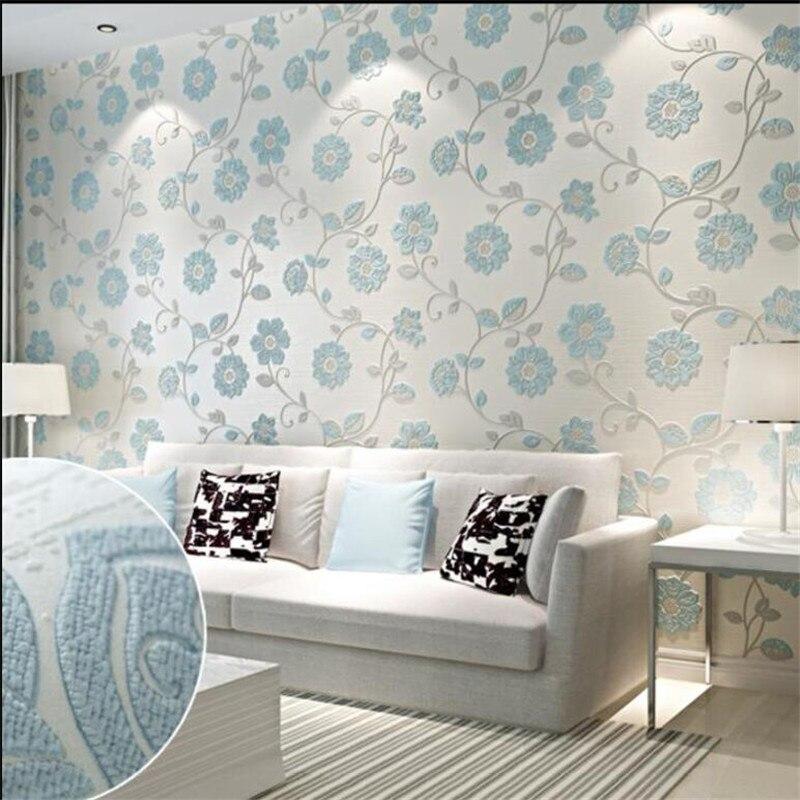 US $26.91 22% OFF|Beibehang 3D Relief Tapete Moderne Rosa Himmel Blau  Tapete Schlafzimmer Wohnzimmer TV Hintergrund Wand tapete für wände 3 d-in  ...
