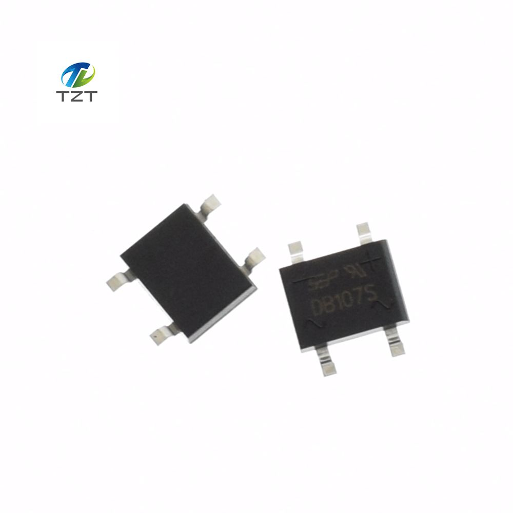 100 pcs smd db107 db107s 1a 1000 v phases simples diode redresseur pont china