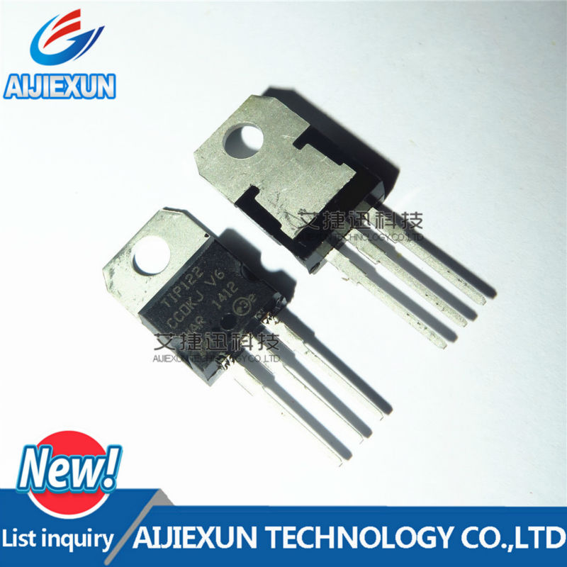 2PCS TIP122 5A 100V TO-220 NPN Darlington transistor TO-220