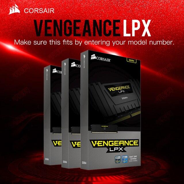CORSAIR Rache LPX HOCHLEISTUNGS GPS CHIPSATZ 8GB 16GB 32GB DDR4 PC4 2400MHZ Desktop Loptop RAM ECC Speicher ECC Lebensdauer garantie Freies Verschiffen