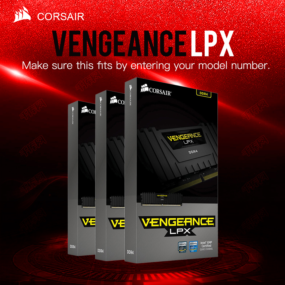 CORSAIR Vengeance LPX 8GB 16GB 32GB DDR4 PC4 2400MHZ Desktop Loptop RAM ECC Memory ECC Lifetime Warranty Free Shipping