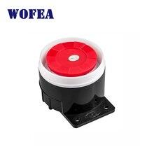 Мини проводной звуковой сигнал сирены для беспроводной система охранной сигнализации для дома 120 дБ громкая сирена для системы сигнализации