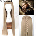 FREE P&P>>>>>>The Hobbit Legolas Long Straight Men Wig Ash Blond Movie Cosplay Wig