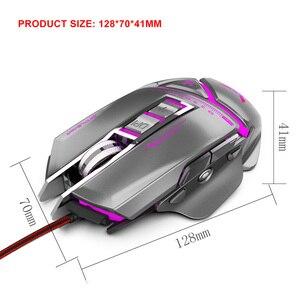Image 2 - ZERODATE USB verdrahtete maus Ergonomie 3200 DPI einstellbare Mechanische Maus Käfer Kreative 3D Gaming Mäuse RGB Kühle Hintergrundbeleuchtung Nacht