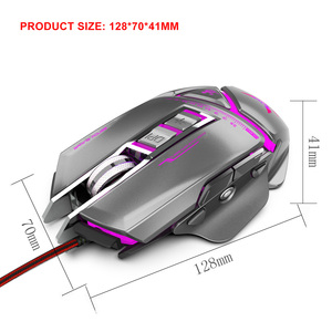 Image 2 - ZERODATE USB wired עכבר ארגונומיה 3200 DPI מתכוונן מכאני עכבר חיפושית Creative 3D משחקי עכברים RGB מגניב תאורה אחורית לילה