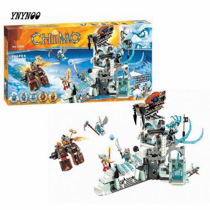 YNYNOO Bela Chimaed 10296 Sir Fangar's Fortress 668pcs friend toys building blocks Kid Brick Toys 70147 P144