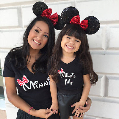 Mom Girl Family Matching Outfits Clothes Mother Daughter Cartoon T Shirt Women Kids Girls Tops Tee Clothing