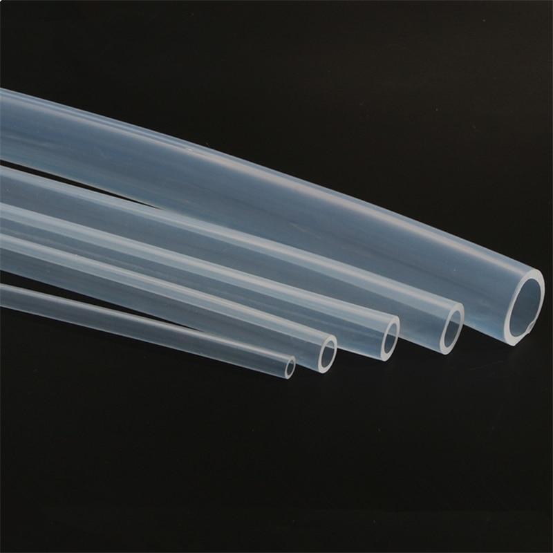 ID 0.5/0.8/1/1.6 Mm X OD 1/1.5/2/3 Mm Transparent Silicone Tube Trumpet Food Grade Capillary Transparent Hose Fine Silicone Tube