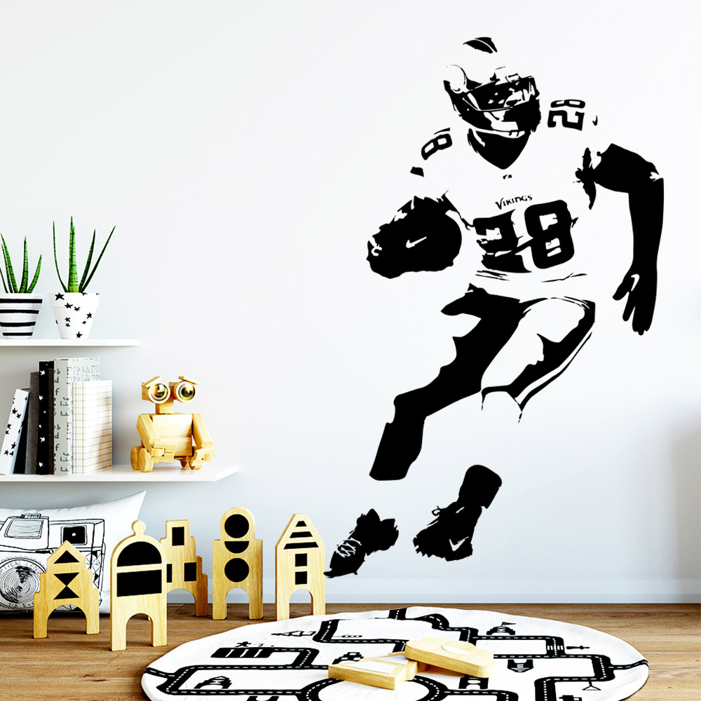 Fashionable Rugby Wall Art Decal Stickers Pvc Material Nursery Kids Room Decor Nordic Style Home Decoration