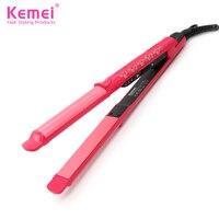 Kemei133 New Titanium Plates Flat Iron Straightening Irons Styling Tools Professional Hair Straightener Free Shipping