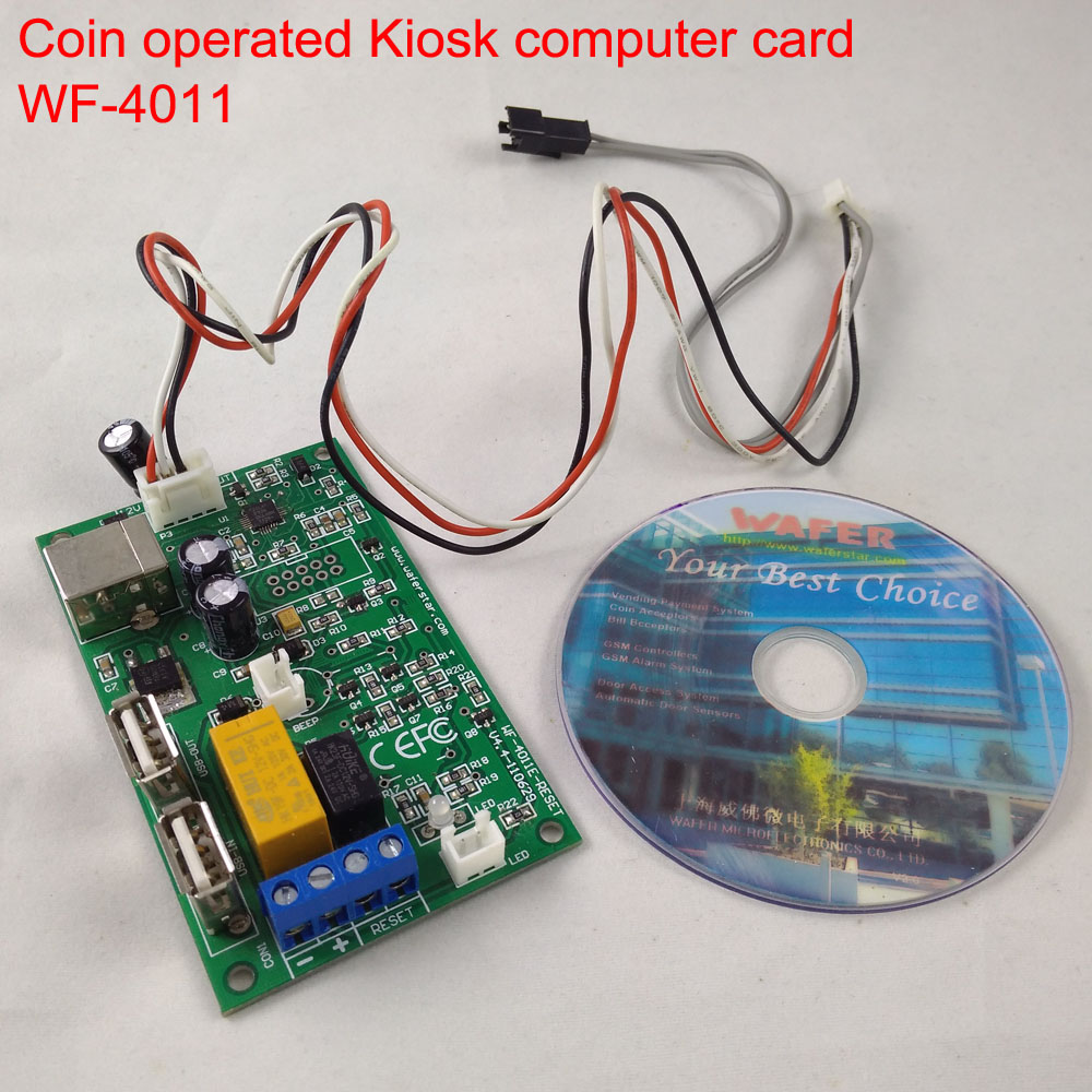 USB Adapter board with software for kiosk computer Hardware and software security runnin ...
